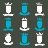 Collection of empire  elements. — Stock Vector