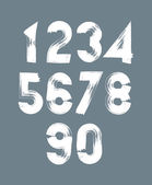 Handwritten  numbers set — Stock Vector
