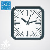 Elegant  square wall clock — Stock Vector
