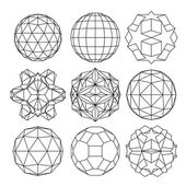 Collection of dimensional spheres — Stock Vector