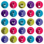 Drinking glasses collection — Stock Vector