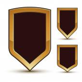Shields shape emblems — Stock Vector