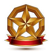 Pentagonal glossy star — Stock Vector