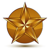 Geometric  classic golden element — Stock Vector
