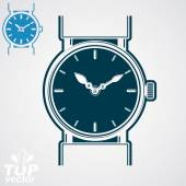 Classic wristwatch illustration — Stockvektor