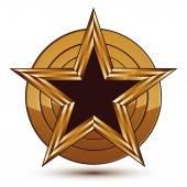 Pentagonal black star symbol — Stock Vector