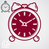 Alarm clock with symmetric bells. — Stock Vector
