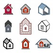 Houses abstract icons — Stock Vector #68227189