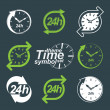 Set of graphic 24 hours timers — Stockvektor  #68228133