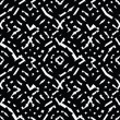 Постер, плакат: Geometric messy lined seamless pattern