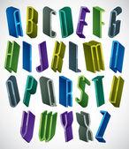 3d colorful letters alphabet. — Stock Vector