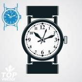 Stylized elegant wristwatch — Stock Vector