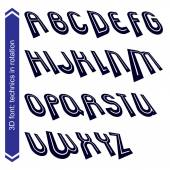 Line retro style geometric font. — Stock Vector