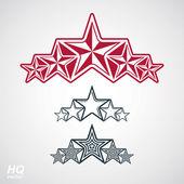 Festive design element with stars — Stock Vector