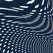 Moire pattern, op art background — Stock Vector