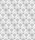 Monochrome abstract geometric seamless pattern — Stock Vector