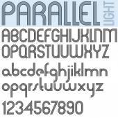 Параллельные полосы ретро стиль шрифта — Cтоковый вектор