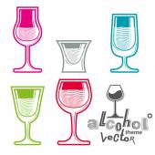 Colorful glasses collection — Stock Vector
