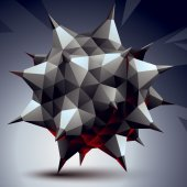 3D abstract geometric unusual object — Cтоковый вектор