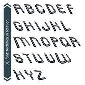 Geometric retro style graphic font — Stok Vektör