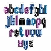 Binary striped distinct font — Stock Vector
