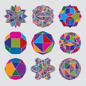 Collection of complex dimensional spheres — Stock Vector