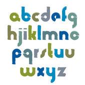 Bright calligraphic font — Stock Vector
