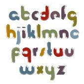 Boyalı Alfabe harf seti, — Stok Vektör