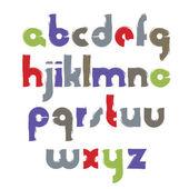 Bright acrylic font — Stock Vector