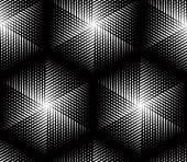 Endless monochrome symmetric pattern — Stock Vector