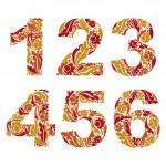 Herbal ornament numbers set — Stock Vector #69893873