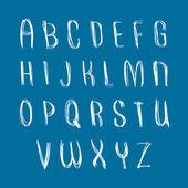 Handwritten font,  alphabet letters. — Stock Vector