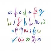 Calligraphic   alphabet letters set — Stock Vector