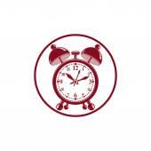 Alarm clock 3d  symbol — Stock Vector