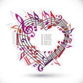 I love music template — Stock Vector
