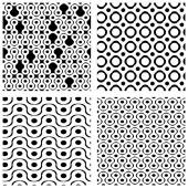 Set of grate seamless patterns — Vector de stock