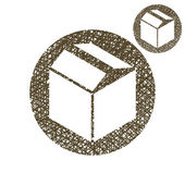 Packaging box  icon — Stockvektor