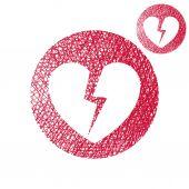 Brustet hjärta ikon — Stockvektor