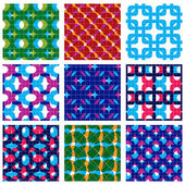 Set of  grate seamless patterns — Stock vektor