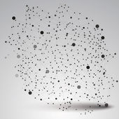 Abstract technology mesh shape — Stock Vector