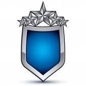 Festive emblem with five pentagonal stars — Stock Vector