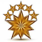 Pentagonal stars, shaped blazon — Stock Vector