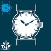 Wristwatch graphic illustration — Stock Vector