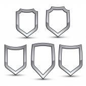Set of heraldic emblems — Stock Vector