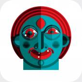 Bizarre modernistic avatar, cubism theme — Stock Vector