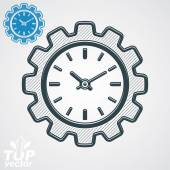 Clock in the shape of gear — Stock Vector