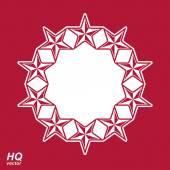 Union conceptual symbol with stars — Stock Vector