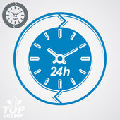 Graphic 24 hours timer — Stock Vector