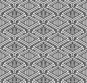 Seamless optical ornamental pattern — Stock Vector