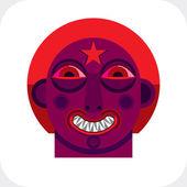 Avant-garde avatar, personality face — Stock Vector